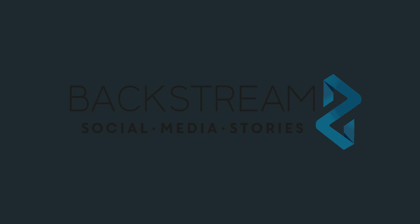 backstream social media stories bild logo